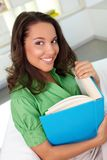 Female with book Stock Photography