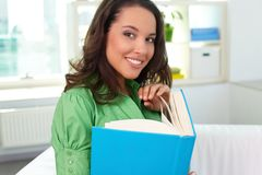 Female with book Royalty Free Stock Images