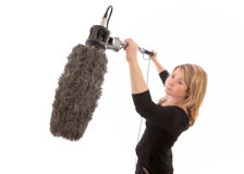 Female Boom Operator Stock Photography