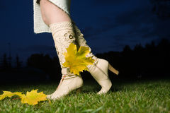 Female boots Royalty Free Stock Images