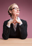 Female boss royalty free stock photos