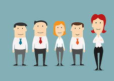 Female boss standing with her business team Stock Photography