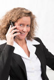 Female Boss talking to someone on the phone Royalty Free Stock Images