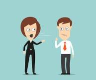 Female boss yelling at employee Stock Photos