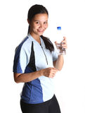 Female With a Bottle Water III Stock Images