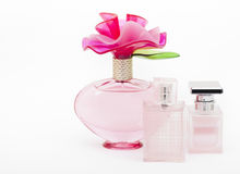 Female bottles with Perfum Royalty Free Stock Image