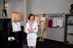 Female boutique owner Stock Images