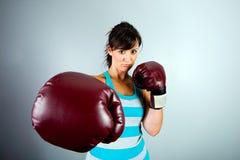 Female boxer Royalty Free Stock Photo