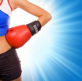 Female boxer. Picture of a Female boxer Royalty Free Stock Photos
