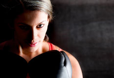 Female boxer Stock Photography