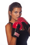 Female boxer. In stand Stock Image