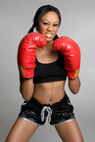 Female Boxer. African american female fitness boxer Stock Photo
