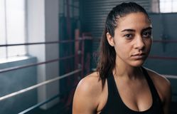 Female boxer at the boxing studio Stock Photos