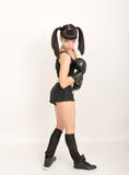 Female boxer, fitness woman boxing wearing boxing Royalty Free Stock Photo