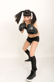 Female boxer, fitness woman boxing wearing boxing Stock Photography