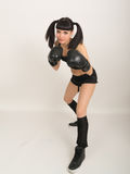 Female boxer, fitness woman boxing wearing boxing Stock Images