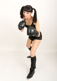 Female boxer, fitness woman boxing wearing boxing Stock Photo