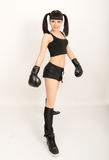 Female boxer, fitness woman boxing wearing boxing Royalty Free Stock Images