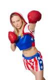 Female boxer Stock Photo
