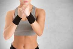 Female Boxer Ready to Fight Royalty Free Stock Image