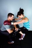 Female boxer in training Stock Photos