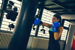 Female Boxer At Training Royalty Free Stock Images