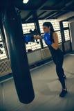 Female Boxer At Training Stock Images