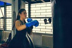 Female Boxer At Training Royalty Free Stock Image