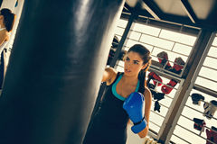 Female Boxer At Training Royalty Free Stock Image