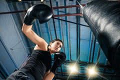 The female boxer training at gym Royalty Free Stock Images
