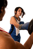 Female Boxer Training Stock Image