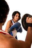 Female Boxer Training Royalty Free Stock Photos