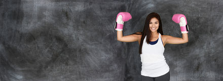 Female Boxer Working Out Stock Photography