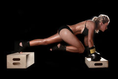 Female With Boxing Gear Royalty Free Stock Photo
