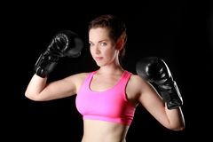 Female With Boxing Gear Stock Image