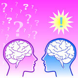 Female brain vs male brain Royalty Free Stock Images