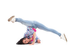 Female breakdancer Royalty Free Stock Image