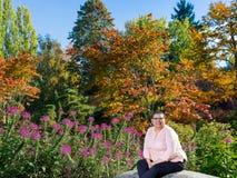 Female Breast Cancer Survivor Resuming Lifestyle. Female cancer survivor resuming lifestyle Stock Image