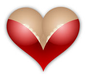 Female breast heart Royalty Free Stock Image