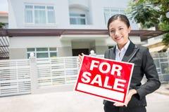 Female broker Royalty Free Stock Images