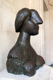 Female bronze  bust, Picasso. Royalty Free Stock Photography