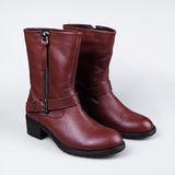 Female brown  boot Royalty Free Stock Photography