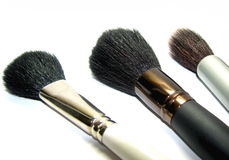 Female brushes for a make-up Stock Photo