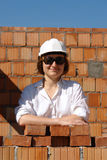 Female builder Stock Image