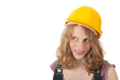 Female builder Stock Photo