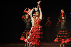 Female bullfighting-Spanish flamenco-the Austria's world Dance Royalty Free Stock Photography