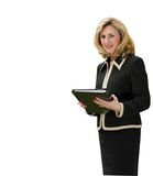 Female business executive. Standing with folders Stock Images