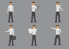 Female Business Executive in Dress Shirt and Pants Cartoon Chara Stock Photography