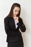 Female business executive stress or negative mood Royalty Free Stock Photography