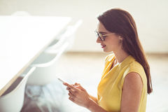 Female business executive using mobile phone Stock Images